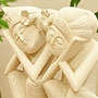 石彫り おやすみバリニーズ 「バリ雑貨『テラコッタ&ストーン』」