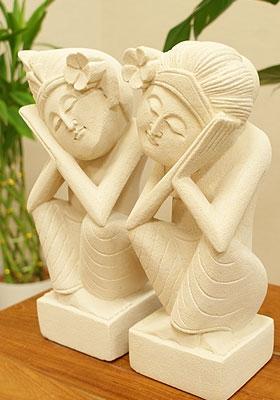 石彫り おやすみバリニーズ 「ストーンレリーフ&石彫り」