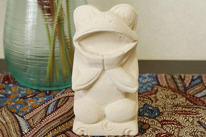 石彫り あんぐりカエル 「ストーンレリーフ&石彫り」
