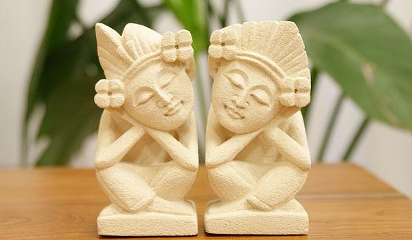 アジアン雑貨 石彫り ストーンレリーフ
