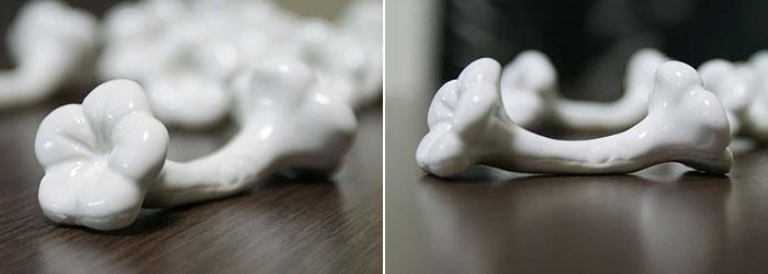 バリセラミック お箸置き ホワイト 「バリ雑貨『陶器&ガラス』」