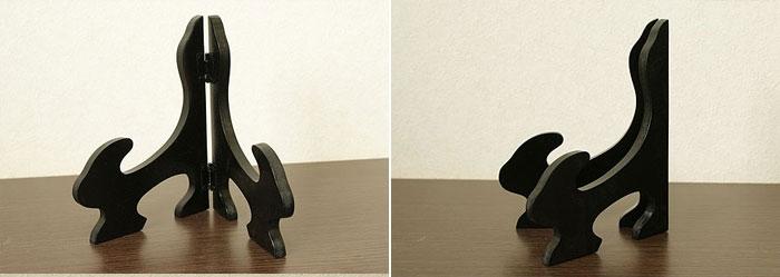 レリーフスタンド ブラック 「ストーンレリーフ&石彫り」