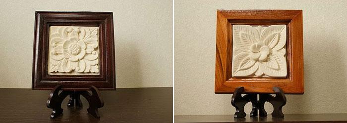 レリーフスタンド ダークブラウン 「ストーンレリーフ&石彫り」