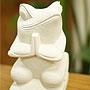 石彫り お祈りカエル 「バリ雑貨『テラコッタ&ストーン』」