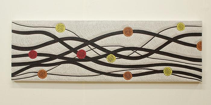 バリ絵画 ドットアート140×45 N 「バリ絵画『ドットアート』」