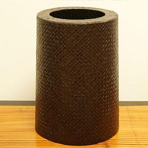 パンダン ラウンドゴミ箱 ダークブラウン 「ゴミ箱」