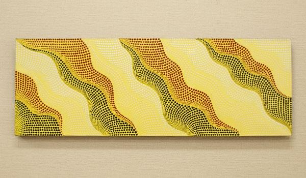 バリ絵画 ドットアート100×35 T 「バリ絵画『ドットアート』」