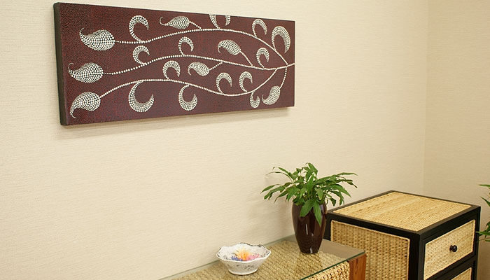 バリ絵画 ドットアート100x35 U 「バリ絵画『ドットアート』」