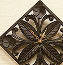 アジアンレリーフ 木製 壁掛け時計 C 「壁掛け時計」