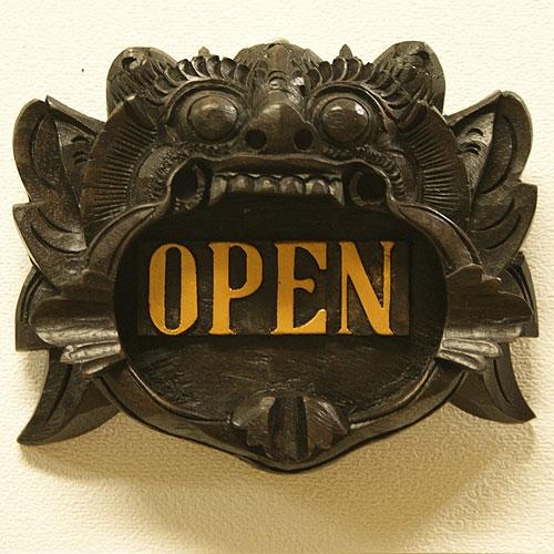 バロン ドアプレート 『オープン』 「看板&ドアプレート」