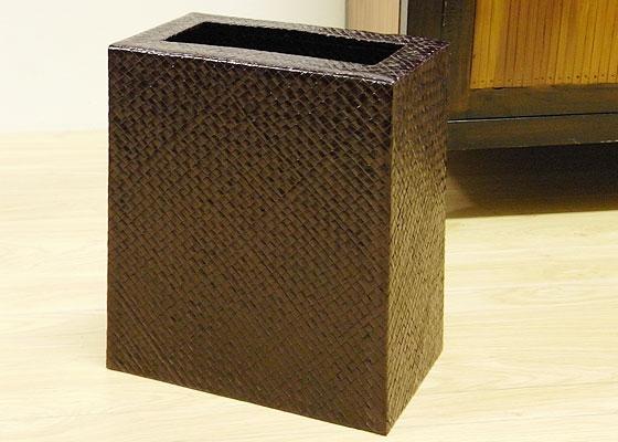パンダン スクエアゴミ箱 ダークブラウン 「ゴミ箱」