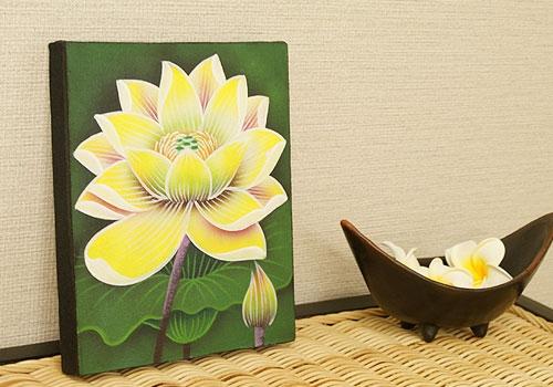 バリ絵画 ロータスミニ01 20×25 「バリ絵画『フラワースタイル』」