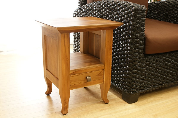 チークサイドテーブルE 「ローテーブル&サイドテーブル『アジアン家具』」