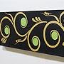バリ絵画 ドットアート100×35 R 「バリ絵画『ドットアート』」