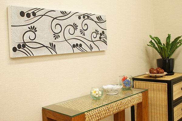 バリ絵画 ドットアート100×35 S 「バリ絵画『ドットアート』」