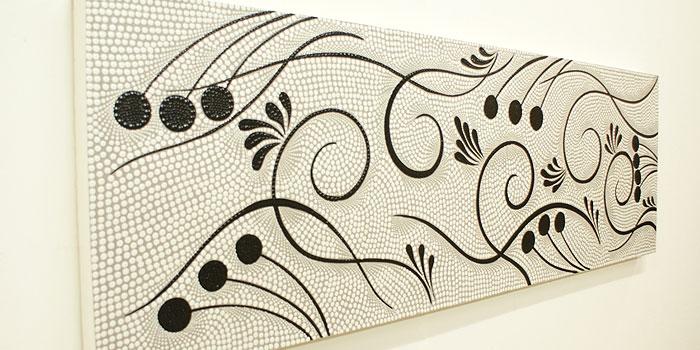 バリ絵画 ドットアート140x45 S 「バリ絵画『ドットアート』」