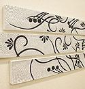 バリ絵画 3連ドットアート S 「バリ絵画『ドットアート』」