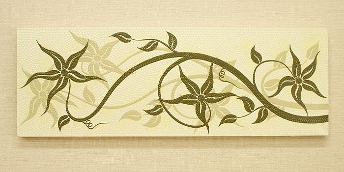 バリ絵画 ドットアート 100x35 B 「バリ絵画『ドットアート』」