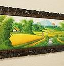 バリ島 風景画ロング 油絵03 「バリ島の風景画『ライステラス、トロピカルビーチなど』」