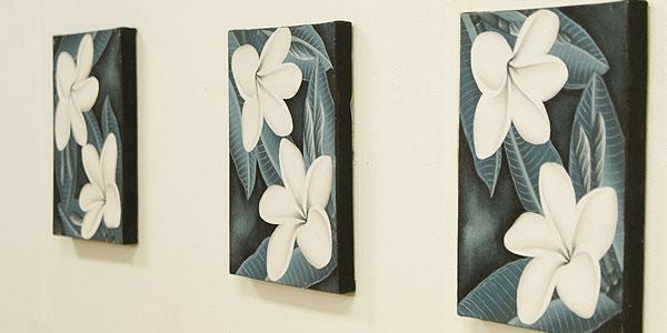 バリ絵画 プルメリアミニ03 20×25 「バリ絵画『フラワースタイル』」
