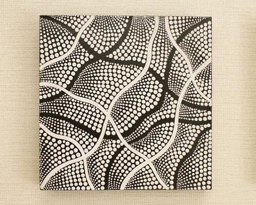 バリ絵画 ドットアート 30×30 Obk 「バリ絵画『ドットアート』」