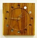 チーク壁掛け時計スクエア ナチュラル 「壁掛け時計」