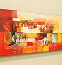 バリ絵画 モダンスタイルアート100×35 13 「バリ絵画『モダンスタイルアート』」