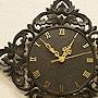 アジアンレリーフ 木製 壁掛け時計 A 「」