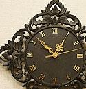 アジアンレリーフ 木製 壁掛け時計 A 「壁掛け時計」