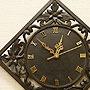 アジアン レリーフ 木製 壁掛け時計 E 「壁掛け時計」