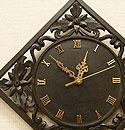 アジアンレリーフ 木製 壁掛け時計 E 「壁掛け時計」