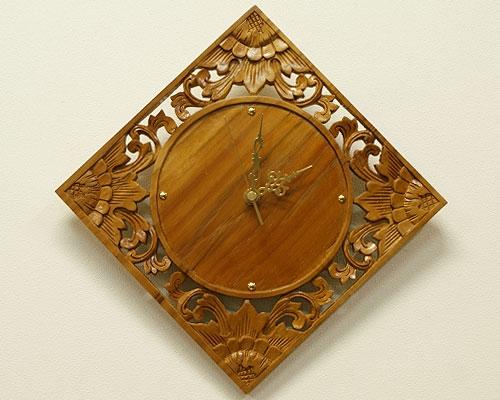 アジアンリゾート壁掛け時計 G ナチュラル 「壁掛け時計」