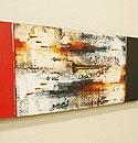 バリ絵画 モダンスタイルアート100×35 14 「バリ絵画『モダンスタイルアート』」