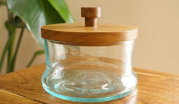 ガラスケース ラウンドB 「バリ雑貨『陶器&ガラス』」