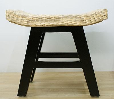 ラタン ウェーブスツール ナチュラル 「スツール&ベンチ『アジアン家具』」