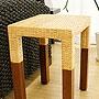 ラタン サイドテーブル ナチュラル 「ローテーブル&サイドテーブル『アジアン家具』」