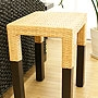 ラタン サイドテーブル ダークブラウン 「ローテーブル&サイドテーブル『アジアン家具』」