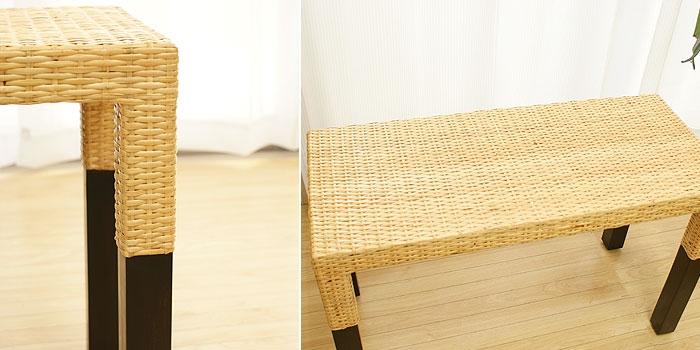 ラタン サイドボード ダークブラウン 「ローテーブル&サイドテーブル『アジアン家具』」