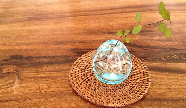 バリガラス ミニ一輪挿し 「バリ雑貨『陶器&ガラス』」