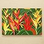 バリ絵画 ヘリコニア 40×60 「バリ絵画『フラワースタイル』」