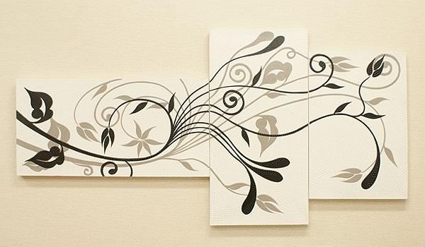 バリ絵画 3連複合 ドットアート01 「バリ絵画『ドットアート』」