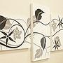 バリ絵画 3連複合 ドットアート02 「バリ絵画『ドットアート』」