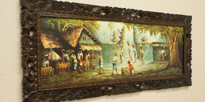 バリ島 風景画ロング 油絵02 「バリ島の風景画『ライステラス、トロピカルビーチなど』」