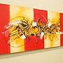 バリ絵画 モダンスタイルアート120×45 04