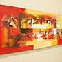 バリ絵画 モダンスタイルアート120×45 13 「バリ絵画『モダンスタイルアート』」