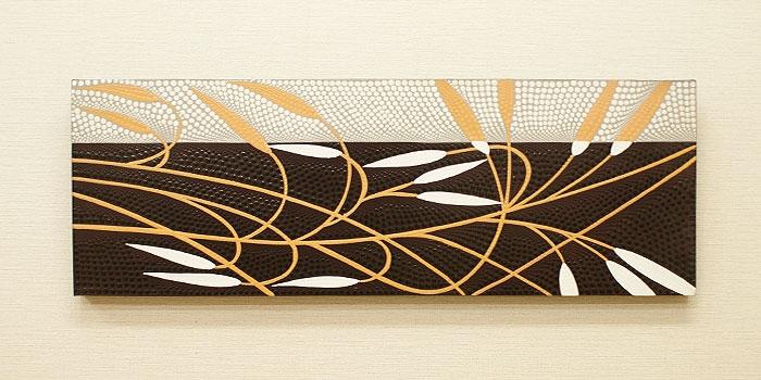 バリ絵画 ドットアート100x35 E 「バリ絵画『ドットアート』」