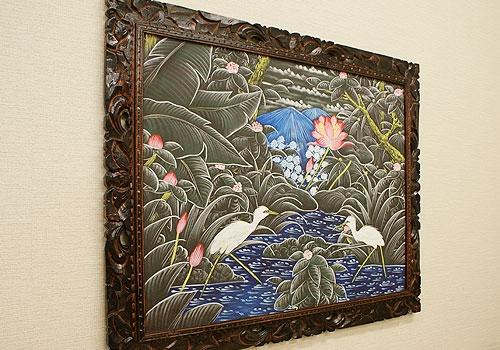 バリ絵画 ブンゴセカンXL15 「バリ絵画『ブンゴセカンスタイル』」