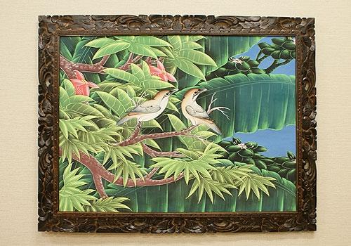 バリ絵画 ブンゴセカンXL16 「バリ絵画『ブンゴセカンスタイル』」
