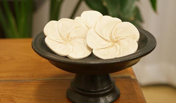 アロマ 木彫り プルメリア 造花