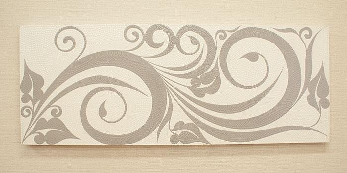 バリ絵画 ドットアート 120x45 C モノトーン 「バリ絵画『ドットアート』」